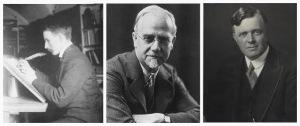 Edward Johnston, Frank Pick, Charles Holden (& Harry Beck)