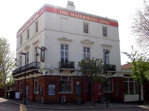 Quietly Famous - The Watermans Arms on the Isle of Dogs.