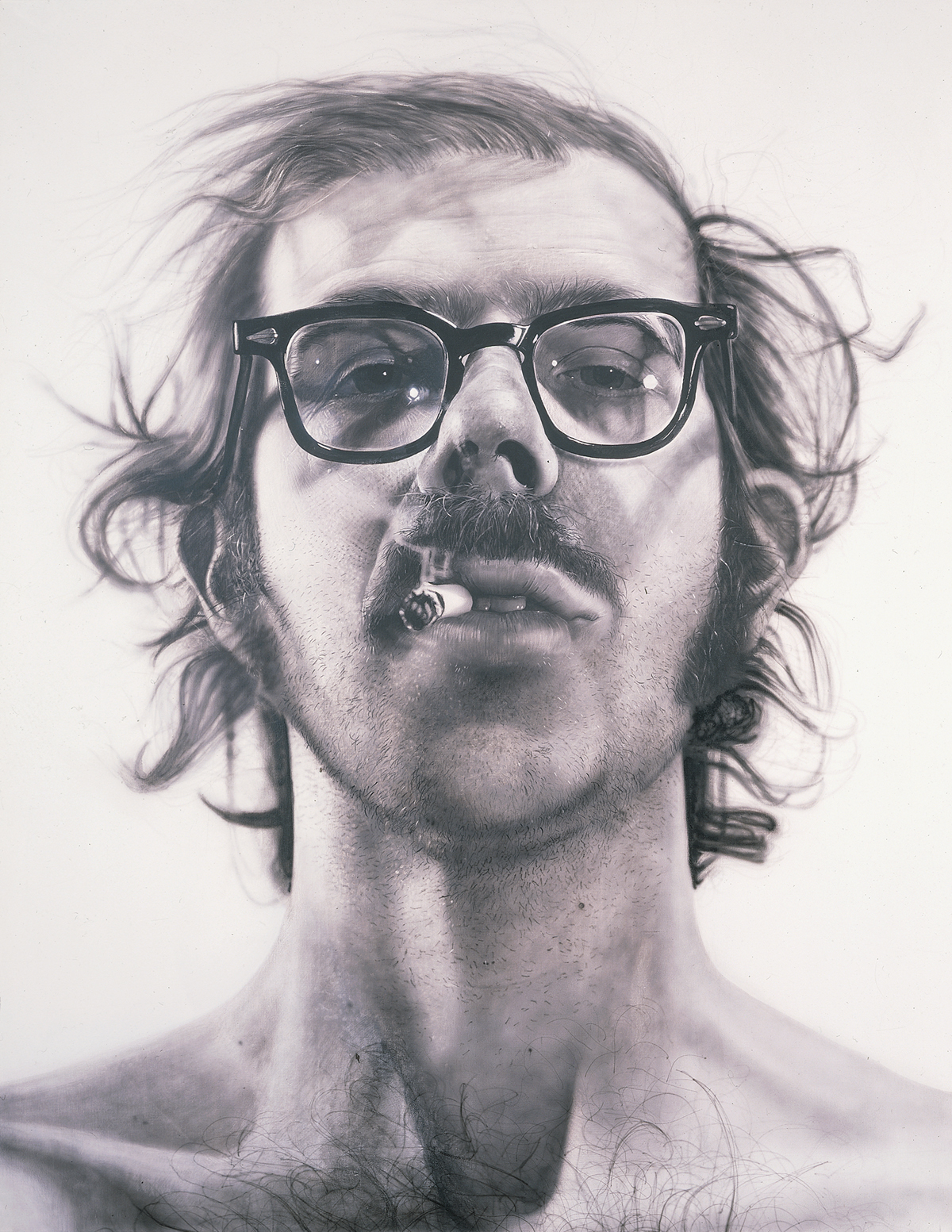 Chuck Close gets up close and personal