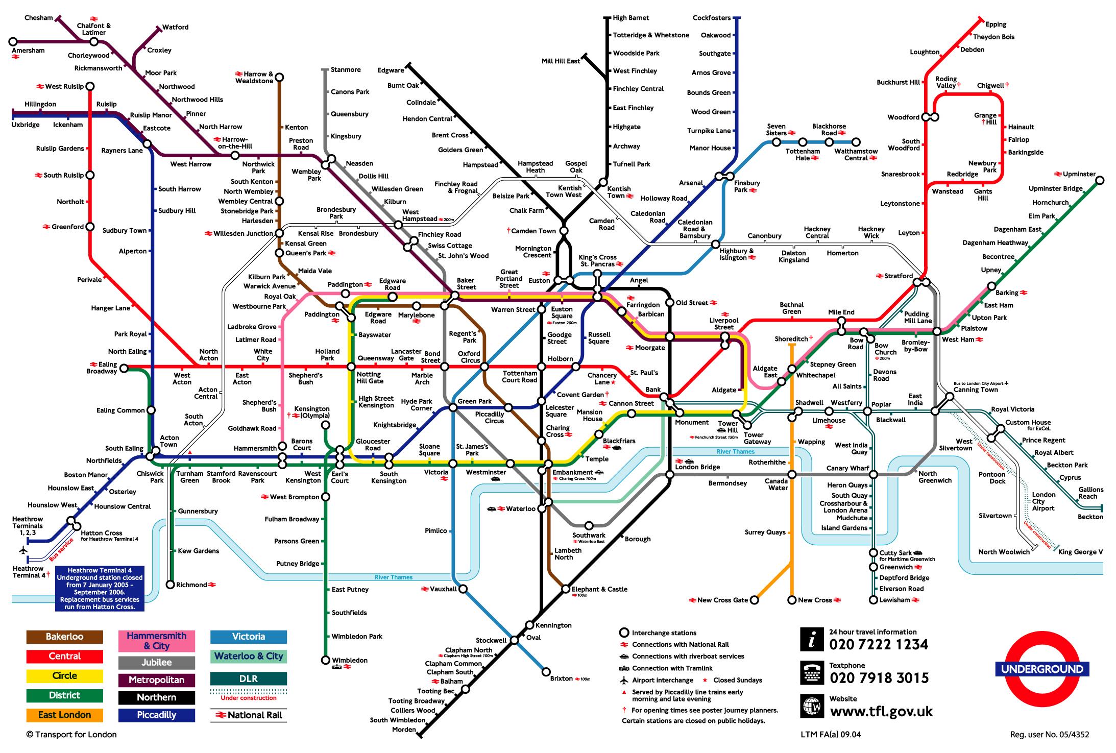 map underground