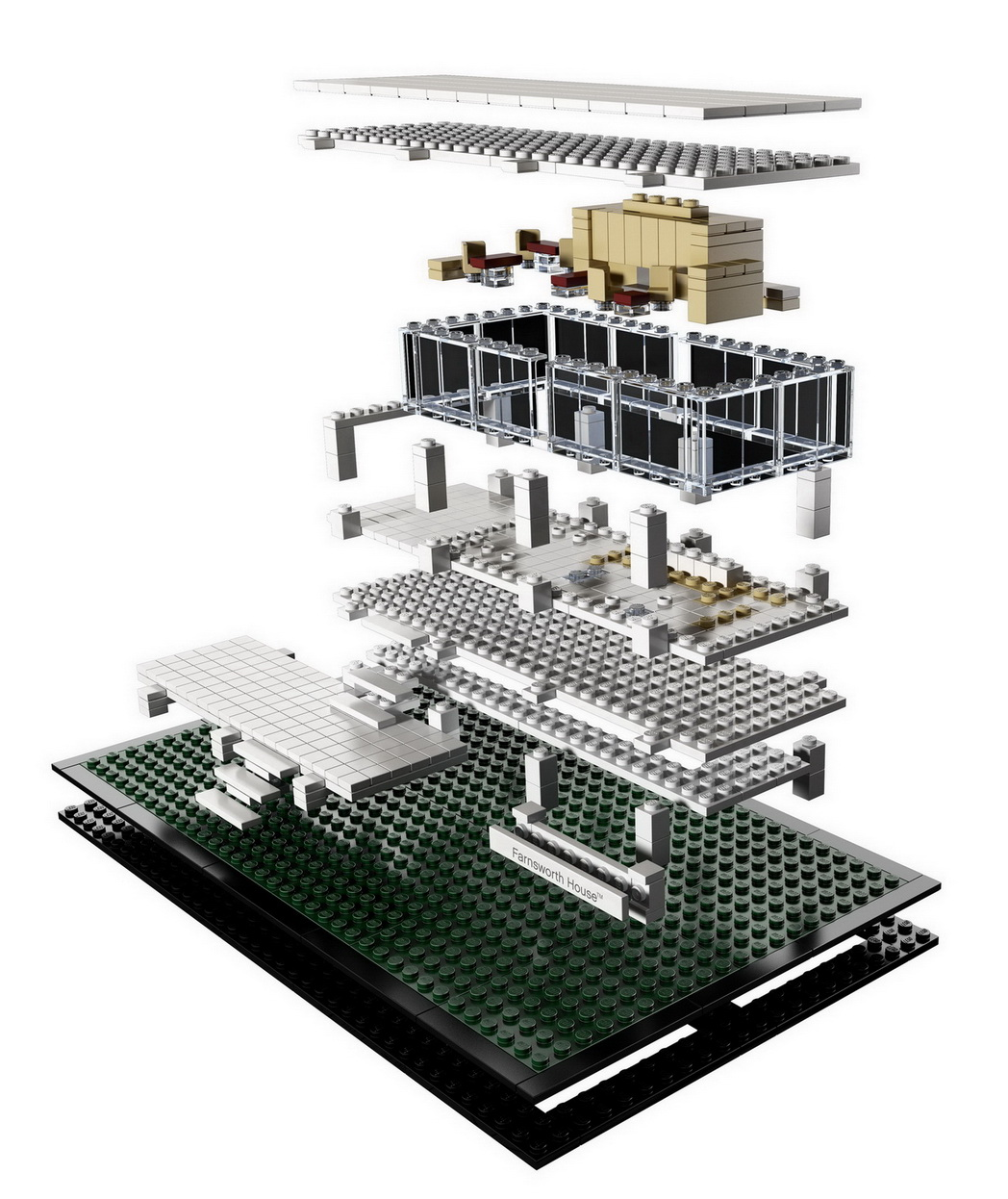 lego architecture farnsworth houses water legos sets building modern exploded google rainy project inside database falling diagrams creations visit read