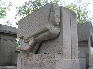 Oscar Wilde's tomb by Jacob Epstein