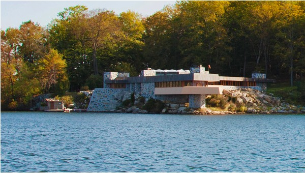 island for sale includes a frank lloyd wright house or. Black Bedroom Furniture Sets. Home Design Ideas