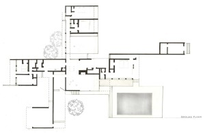 Kaufmann House floor plan