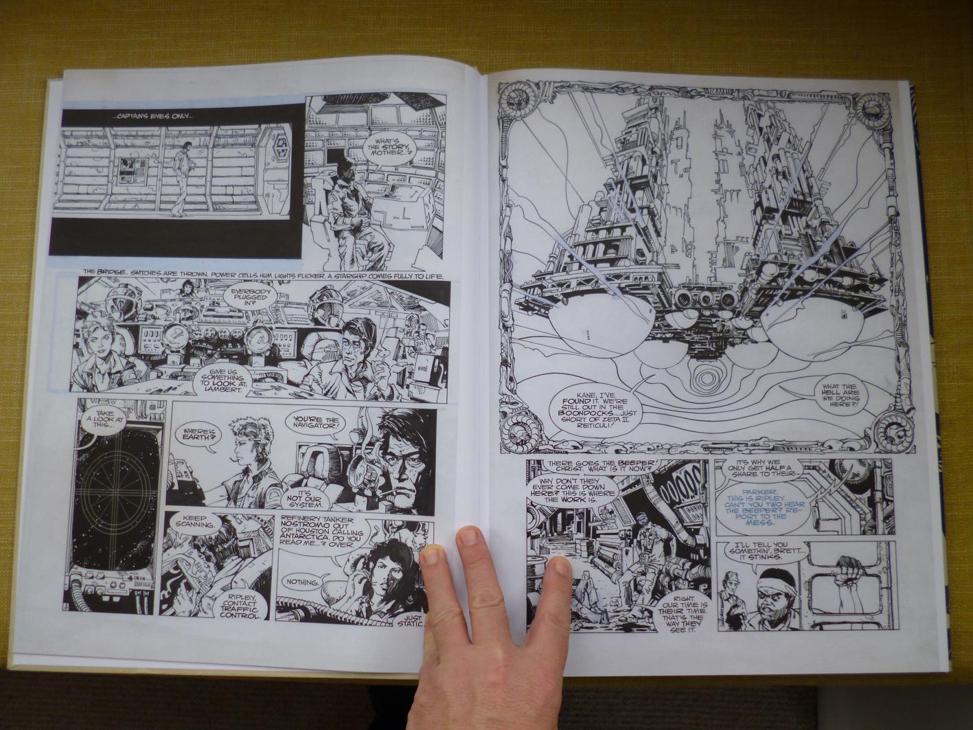 Alien The Illustrated Story Original Art Edition Joe Blogs Of P1000811