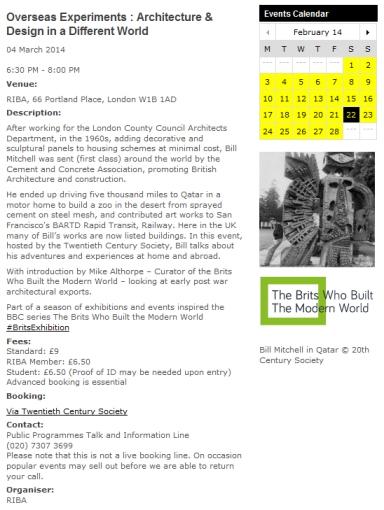 RIBA web BM page