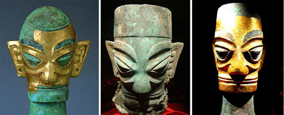 bronze-heads-Sanxingdui-china