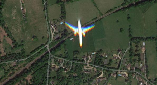 rainbow plane